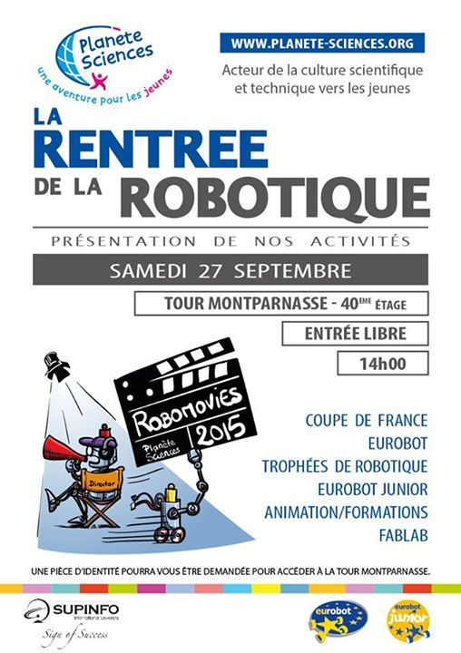 La rentr e de la robotique 2014 2015 approche blog pla sci - Coupe de france robotique ...