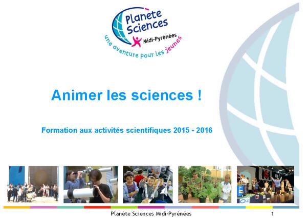 Formations Planète Sciences Midi-Pyrénées