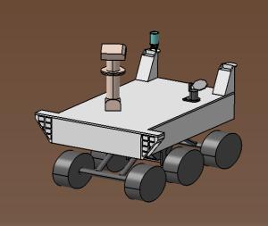 CAO du nouveau design du robot d'exploration.