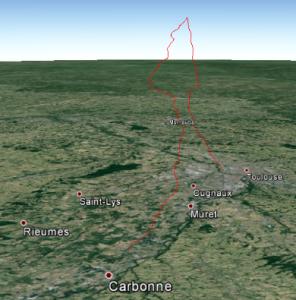 ballon longage trajecto