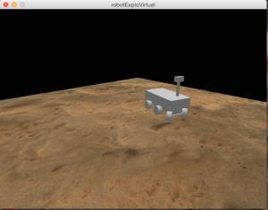 Une capture d'écran de l'environnement virtuel