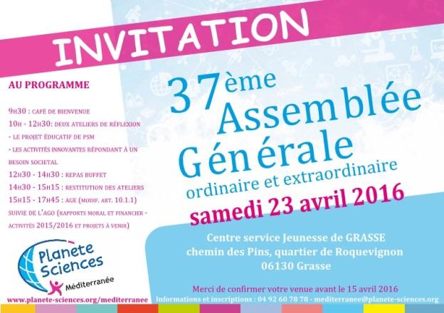 Invitation AG 2016 PSM