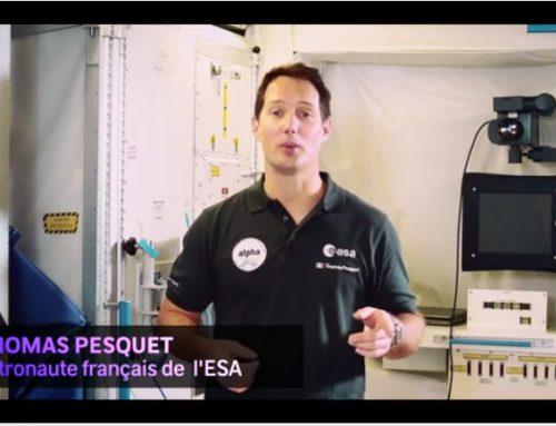 Thomas Pesquet présente le bureau ESERO France